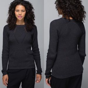 Lululemon The Sweater The Better Heathered Black 8